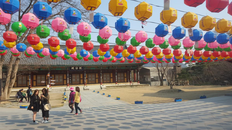 temple courtyard
