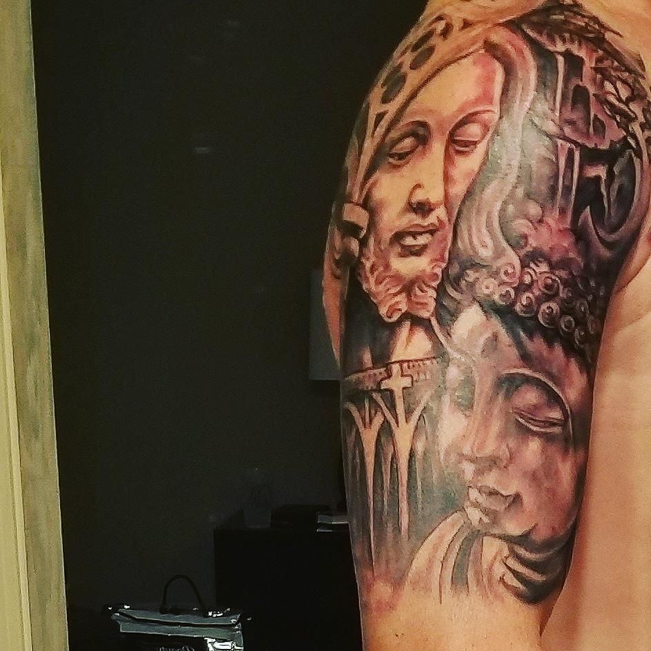 Jesus And Buddha A Tattoo Explanation For Mom Writing With Beau
